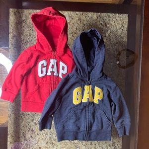 Baby Gap | zippered hoodies (red and blue) 2 pack